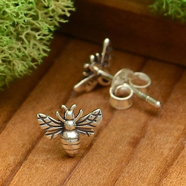 Tiny Bee Post Earrings, Nina Designs