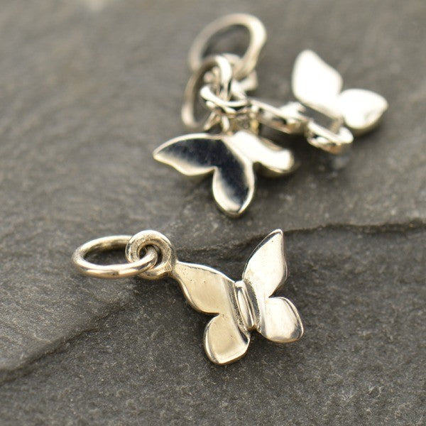Tiny Butterfly Charm - Poppies Beads n' More