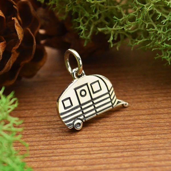 Sterling Silver Camping Trailer Charm, Nina Designs