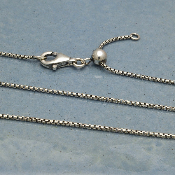 Sterling Silver Chain with Slidebead - adjusts to 22 inches, Nina Designs