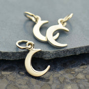 Crescent Moon Charm - Tiny - Poppies Beads n' More