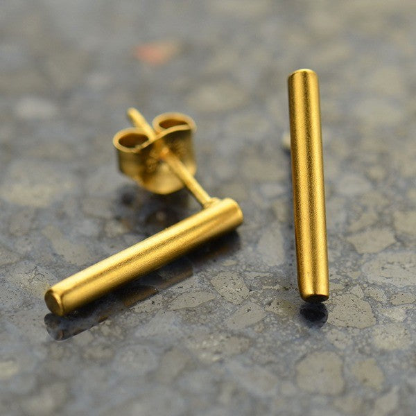 Cylinder Bar Earrings