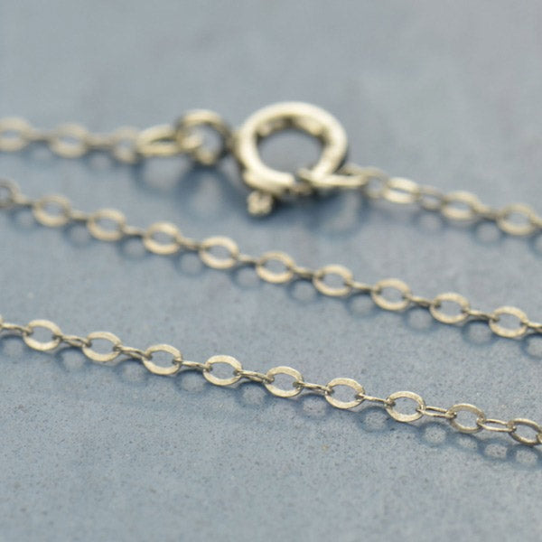 Sterling Silver Finished Chain- 24 inch Delicate Cable Chain