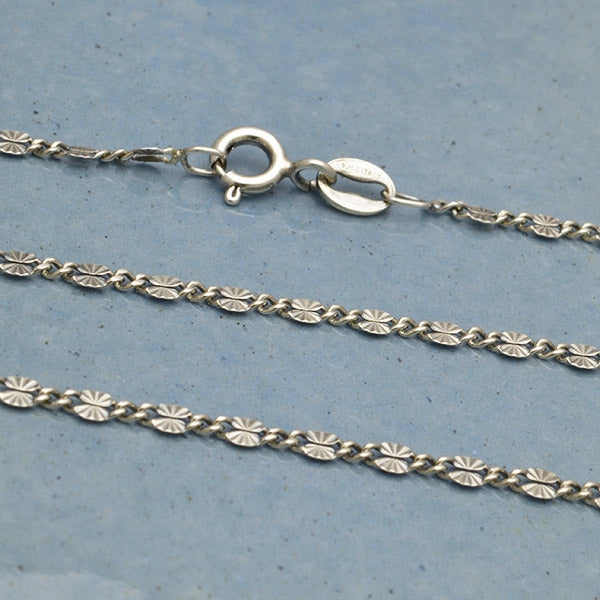 Sterling Silver Chain - Delicate Sunburst Links 18 inch