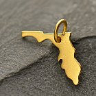 Satin 24K Gold Plated Sterling Silver State Charms - Poppies Beads n' More