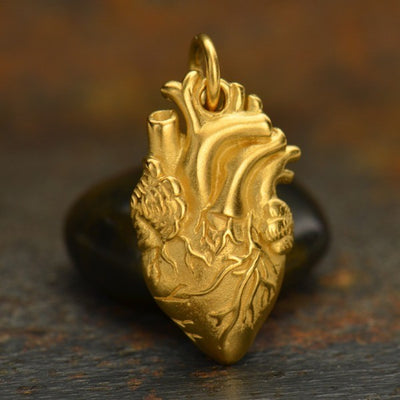 Anatomical Heart Charm, Nina Designs