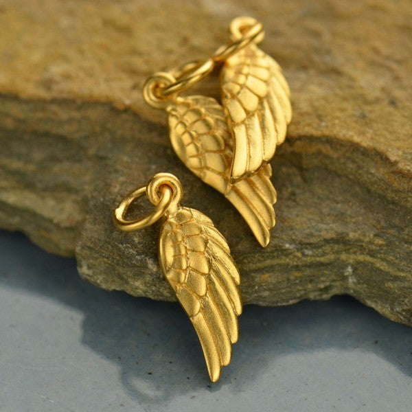 Angel Wing Charm, - Poppies Beads n' More