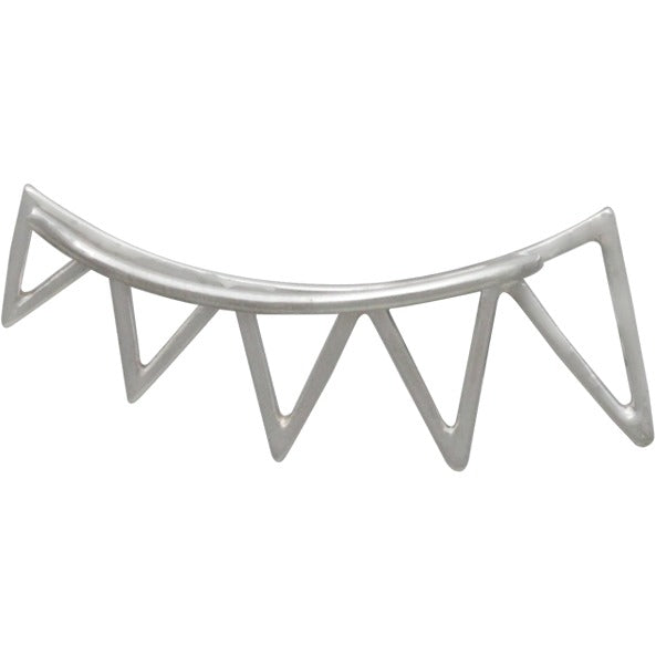 Geometric Jewelry - Silver Triangle Spike Ear Climbers - Poppies Beads n' More