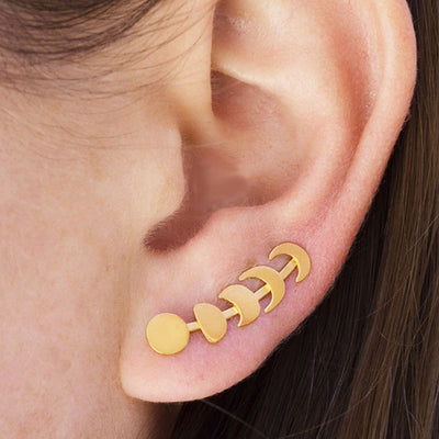 Ear Climber - Moon Phases - Poppies Beads n' More