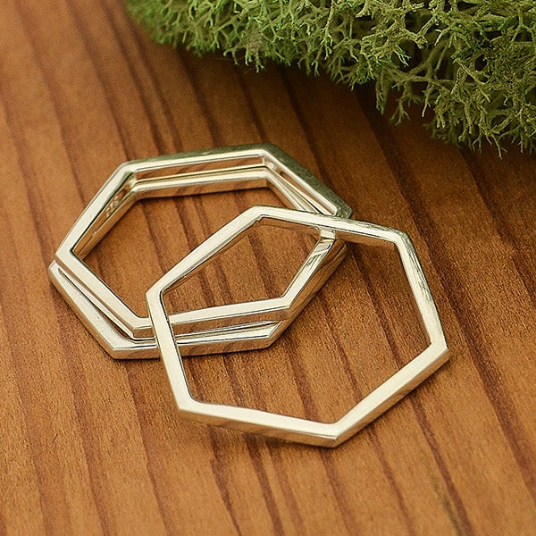 Hexagon Honeycomb Stacking Ring