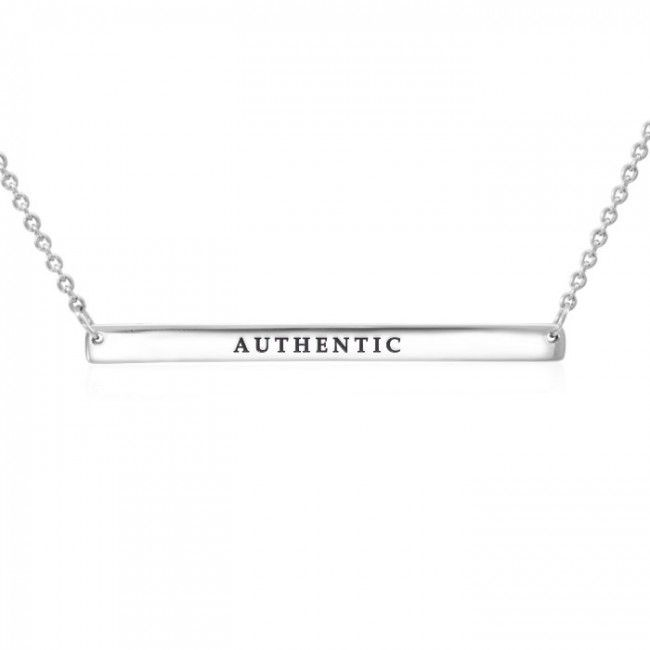 Large Straight Bar Necklace