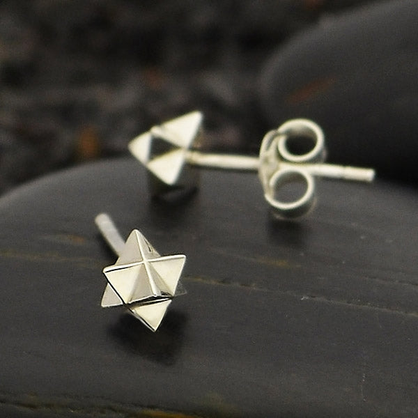 Merkaba Post Earrings,
