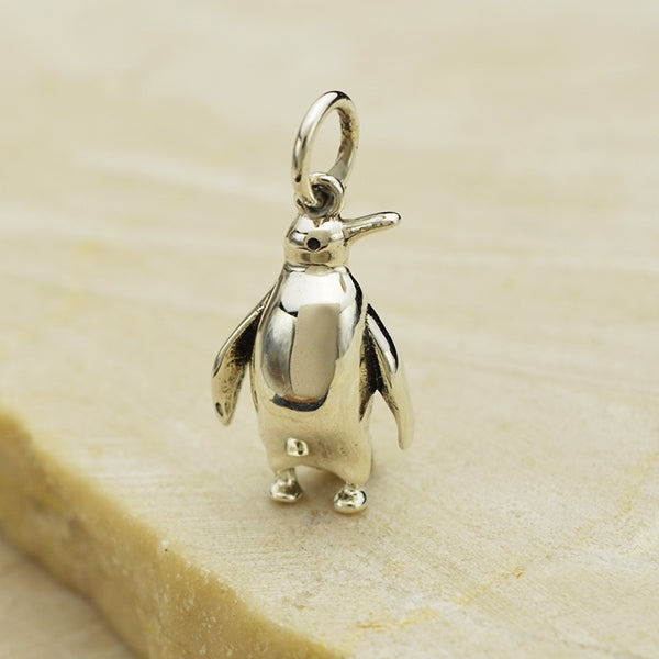 Sterling Silver Penguin Charm,