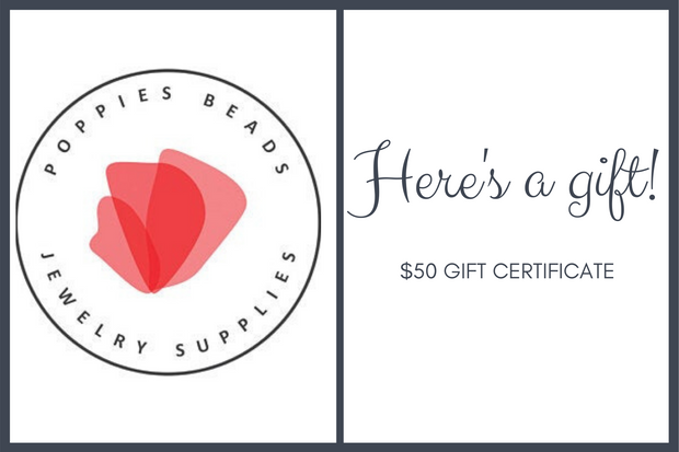 Gift Certificate from Poppies Beads N More - Poppies Beads n' More