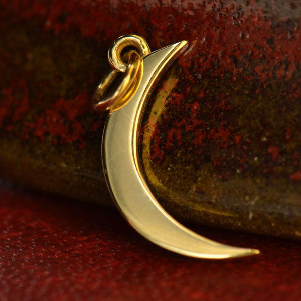Crescent Moon Charm - Poppies Beads n' More