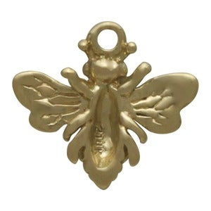 Solid 14K Gold Small Bee Charm, Nina Designs