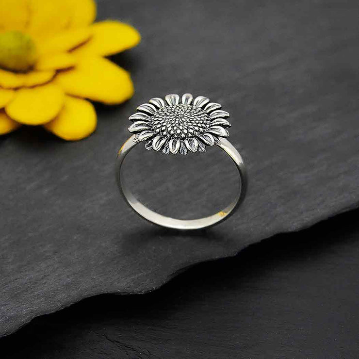 Sterling Silver Sunflower Ring - Poppies Beads n' More