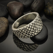 Sterling Silver Dragon Scale Ring - Poppies Beads n' More