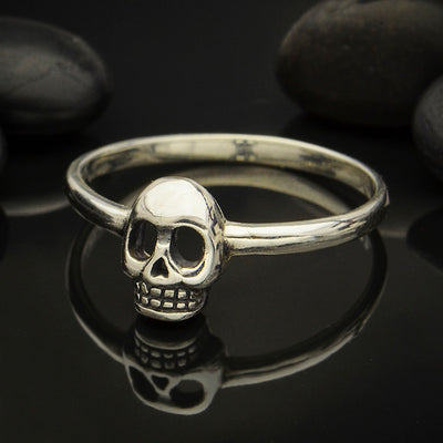 Sterling Silver Skull Ring - Poppies Beads n' More