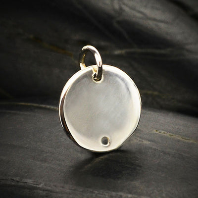 Sterling Silver Circle Disk Link - Poppies Beads n' More