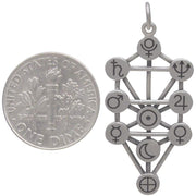 Sterling Silver Tree of Life Pendant with Planets - Poppies Beads n' More