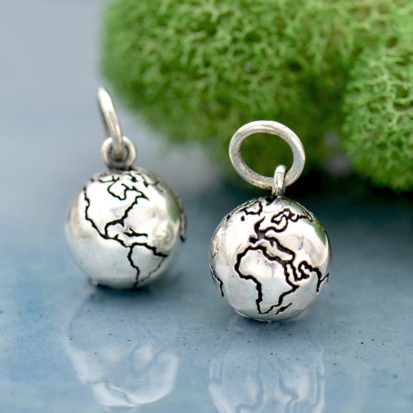 Sterling Silver 3D World Charm - Poppies Beads n' More