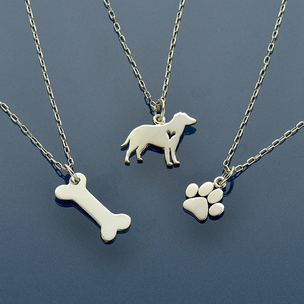 Puppy Love - Dog, Paw Print and Dog Bone Charm Necklaces - Poppies Beads n' More