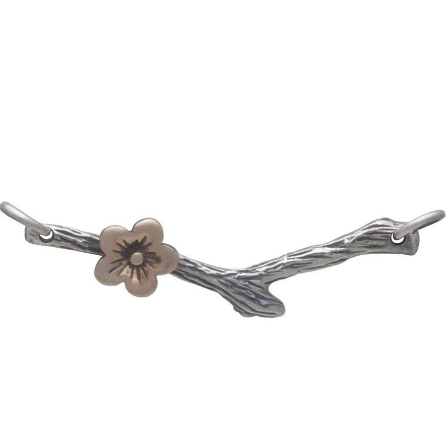 Silver Branch Festoon with Bronze Cherry Blossom,