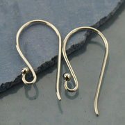 Simple Hook Earring Top with Ball -1 Pair - Poppies Beads n' More