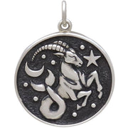 Sterling Silver Astrology Capricorn Pendant - Poppies Beads n' More