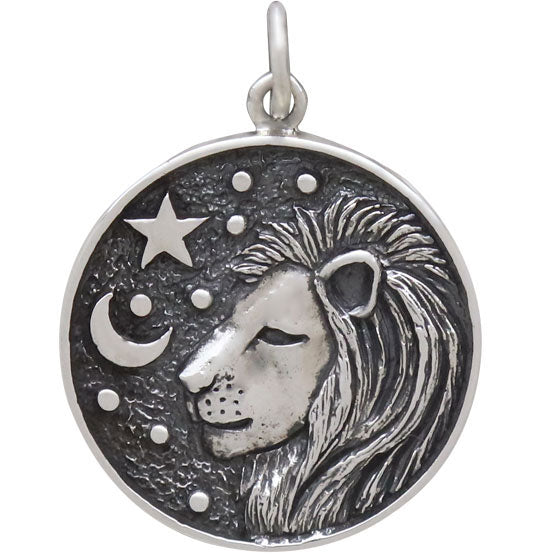 Sterling Silver Astrology Leo Pendant - Poppies Beads n' More