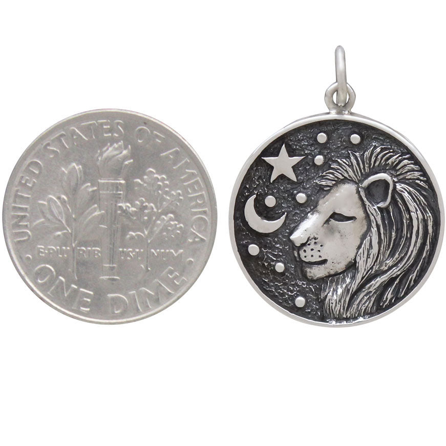 Sterling Silver Astrology Leo Pendant,