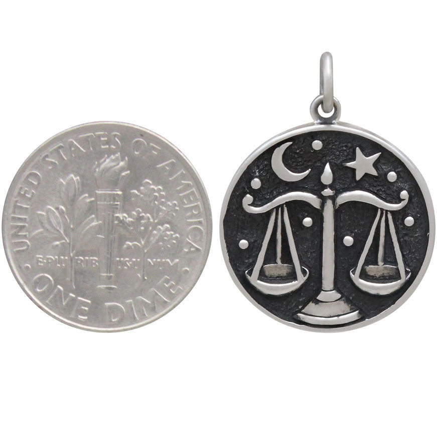 Sterling Silver Astrology Libra Pendant, Nina Designs