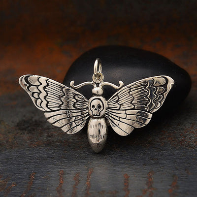 Death Heads Moth Pendant - Poppies Beads n' More