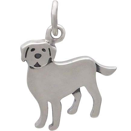 Sterling Silver Labrador Dog Charm - Poppies Beads n' More