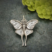 Luna Moth Pendant - Poppies Beads n' More