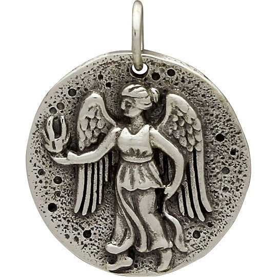 Sterling Silver Ancient Coin Charm - Angel