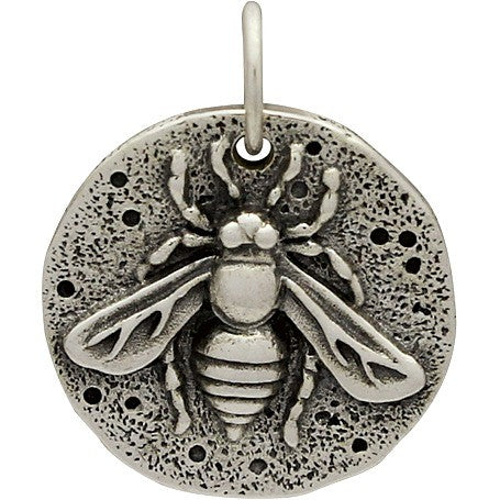 Sterling Silver Ancient Coin Charm - Bee