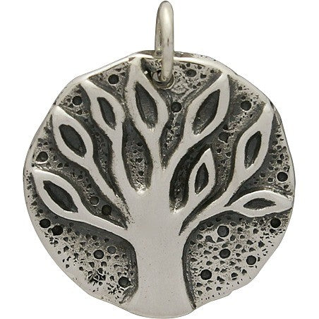 Sterling Silver Ancient Coin Charm - Tree Charm