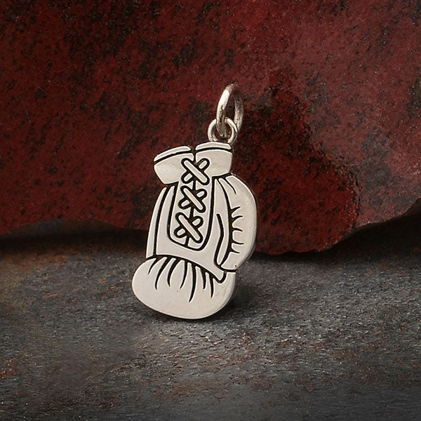 Sterling Silver Boxing Glove Charm,