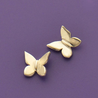 Sterling Silver Butterfly Charm Embellishment - Poppies Beads n' More