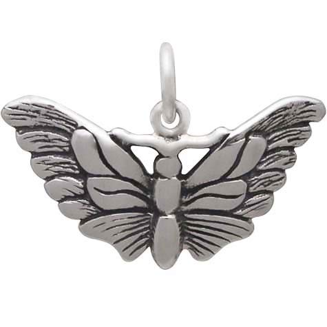 Sterling Silver Butterfly Moth Charm, Nina Designs