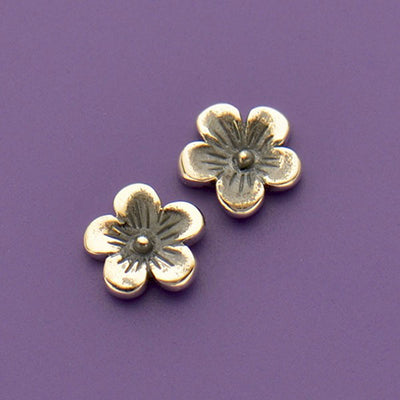 Sterling Silver Cherry Blossom Charm Embellishment - Poppies Beads n' More