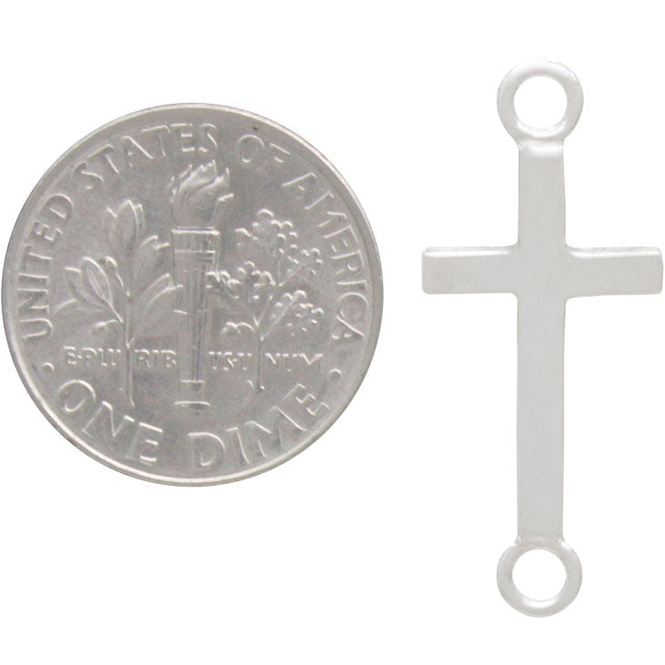 Sterling Silver Cross Link with Large Loops