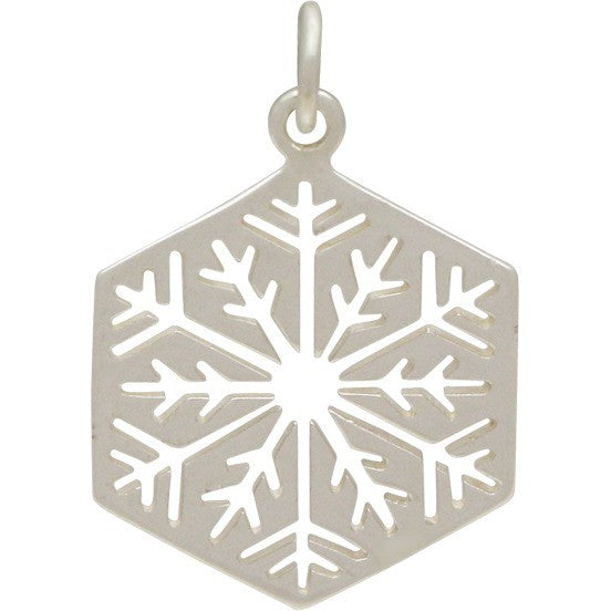 Sterling Silver Cut Out Snowflake Charm - Large, Nina Designs