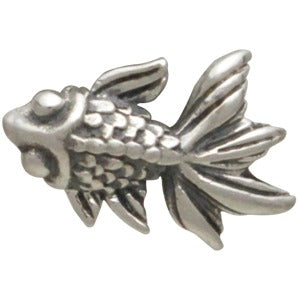 Sterling Silver Goldfish Charm Embellishment
