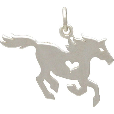 Horse Charm with Heart Cutout,