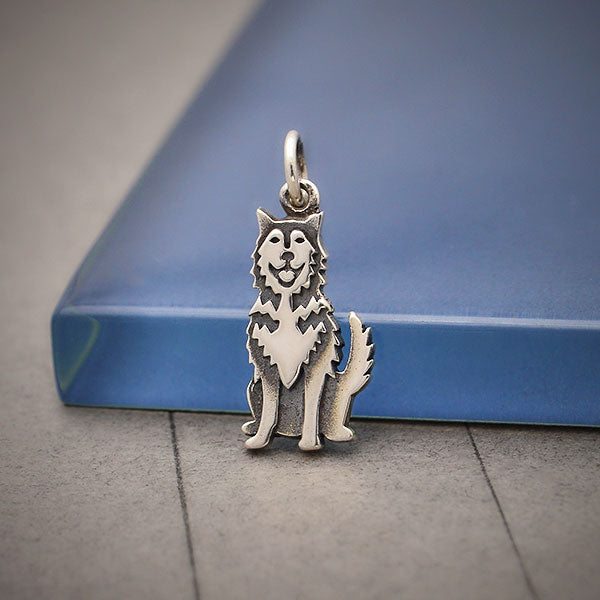 Sterling Silver Husky Dog Charm, Nina Designs