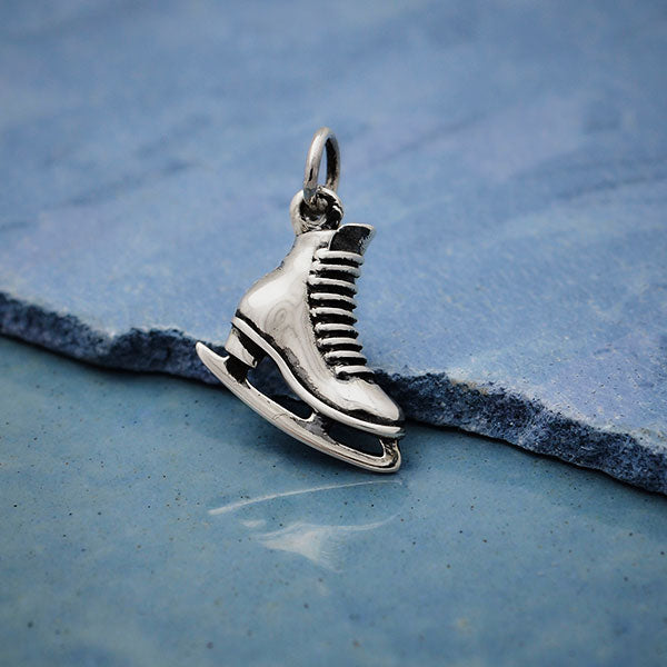 Sterling Silver Ice Skate Charm