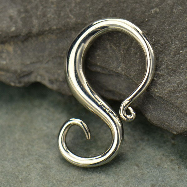 Sterling Silver Jewelry Bail - S-shaped Removable Bail - Poppies Beads n' More